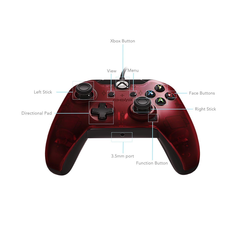 Pdp - Mando, Color Rojo (Xbox One): Amazon.es: Videojuegos