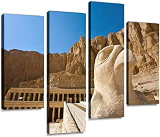 Temple of Hatshepsut Canvas Print Artwork Wall Art Pictures Framed Digital Print Abstract Painting Room Home Office Decor ...