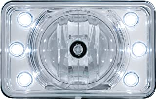 United Pacific 4' x 6' Crystal Projection Headlight w/ 6 White LED Position Light - High Beam