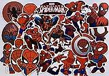 Spiderman Autocollant Lot Graffiti Autocollant Homme Araignée Stickers pour Ordinateur Portable Planche à roulettes Bagages Autocollant Graffiti Patches Autocollants en Vrac (35 PCS)