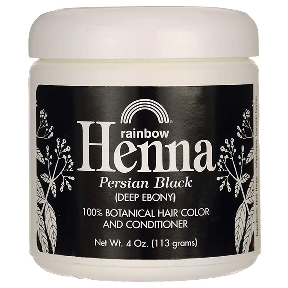 溶かす嫌い始めるRainbow Research Henna Hair Color and Conditioner Persian Black Deep Ebony - 4 oz