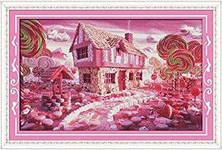グッドバリューGood Valueクロスステッチキット 子供や初心者向け 童話の家ー11CT 79×52cm DIY 手作り刺繍キット 正確な図柄印刷クロスステッチ 家庭刺繍装飾品 フレームがない