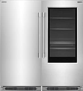 Frigidaire Professional 19 Cu. Ft. Glass Door All Refrigerator and 19 Cu. Ft. All Freezer FPGU19F8TF and FPFU19F8RF