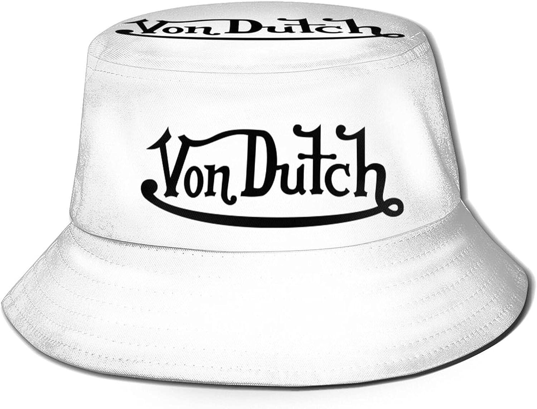 Von Dutch Bucket Hat Sun Hats for Men Summer Outdoor Sun Protection Wide Brim Bucket Hat Foldable Cap Fashional Bucket Hats for Women