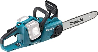 Makita DUC353Z Twin 18V (36V) Li-Ion LXT Brushless 350mm Chainsaw - Batteries and Charger Not Included Blue