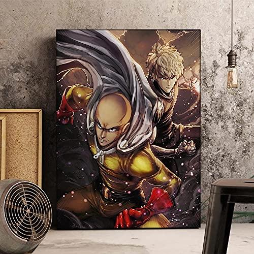 AJleil DIY Pintar por números Dibujos Animados Anime japonés my Hero Academia Art Painting Pintura por números para niños con Kits de Pincel y Pintura acrílica40x60cm(Sin Marco)