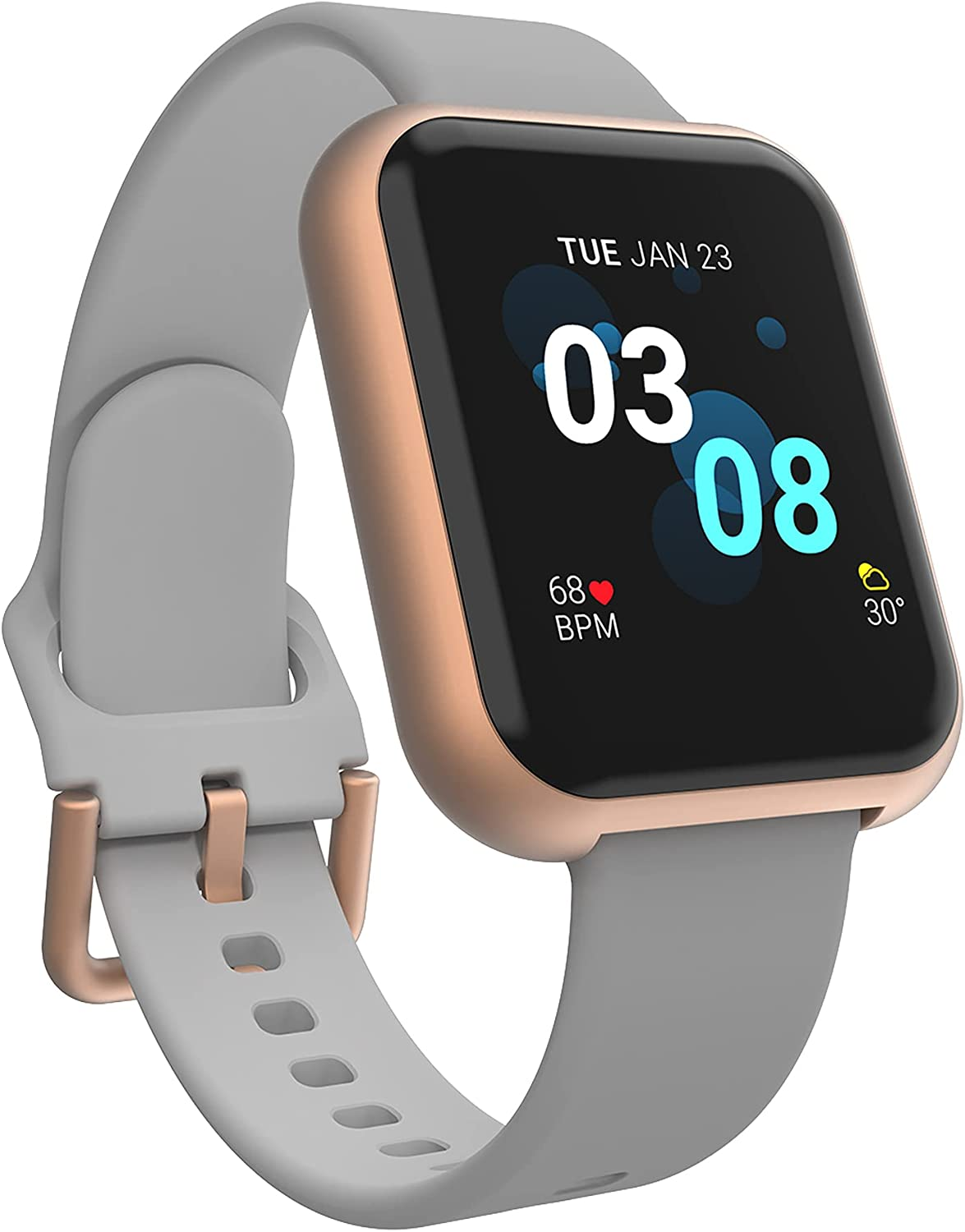 iTouch Air 3 Smartwatch Fitness Tracker, Heart Rate, Step Counter, Sleep Monitor, Message, IP68 Swimming Waterproof for Women and Men, Touch Screen, Compatible with iPhone and Android