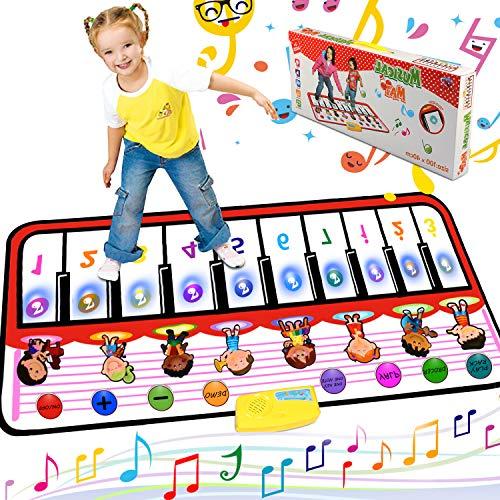 Alfombra de Piano, Alfombra Musical de Teclado T¡§¡éctil, 5 Modes & 8 Sounds Touch Juego Musical para Ni?os Beb¡§| Regalo