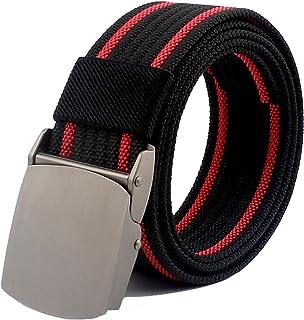أحزمة FASANIY للاستخدام الخارجي للرجال، حزام نايلون متعدد الألوان عسكري تكتيكية في الهواء الطلق بدون ثقب حزام متعدد الألوان