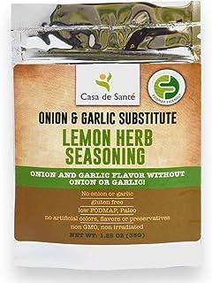 Paleo Seasoning, Healthy Spices for the Low FODMAP Diet (Lemon Herb Seasoning) - No Onion No Garlic, Gluten-Free, Whole 3...