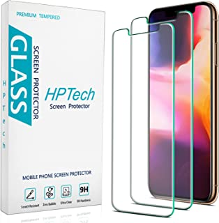 [2-Pack] HPTech Screen Protector Compatible for iPhone 11 Pro, iPhone Xs and iPhone X [5.8-inch] Tempered Glass, Case Frie...