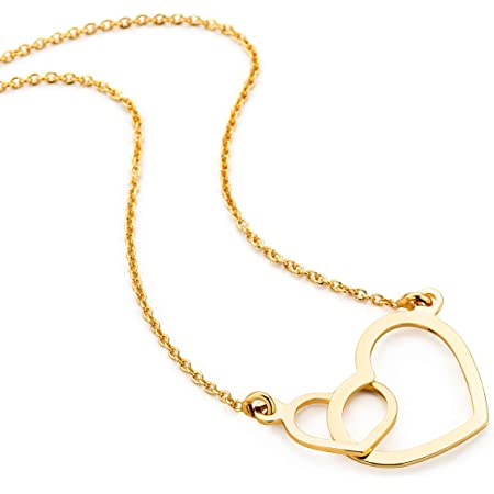 Orovi Collar Señora Corazón con cadena en Oro Amarillo Oro 9 Kt / 375 Cadena 45 Cm Collar Producido en Italia