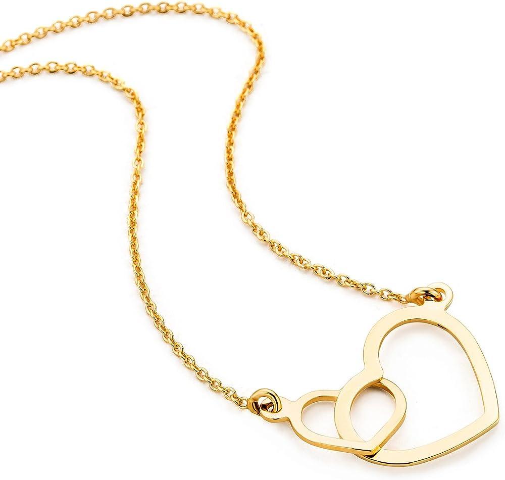 Orovi collana per donna, con  ciondolo a forma di cuore in oro giallo oro 9 kt (1,51 gr) OR8982N