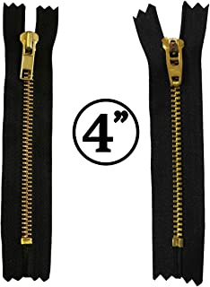 KGS 4 inch Metal Zipper #5 | Golden Color | 5 pcs/Pack