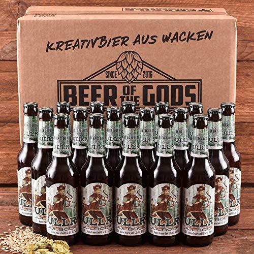 Wacken Brauerei ULLR Julbock - Pack de cervezas caseras - 18 botellas de 0,33 l de cerveza bock de invierno - Cerveza fuerte