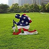 Kneeling Soldier Weathered Flag Metal Decor Garden Yard Vertical Flag Outdoor US Military Art Decoration
