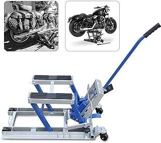 Motorrad Fahrradlift, 680 kg schwerer ATV Wagenheber mit 1500 lb, hydraulischer Motorrad Werkbanklift mit 2 Rollenständer 11,5 37,5 cm