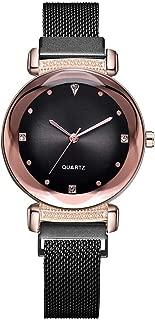 Watch,Becoler Fashion Simple Diamond Dial Mesh Belt Quartz Watch Magnetic Buckle Ladies Watch