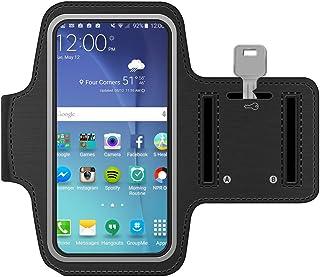 MMOBIEL Brazalete/Pulsera Deportiva Compatible con Samsung Galaxy S10 S10 Plus S10e (Negra) Neopreno Ultra Ligero Tira reflejante