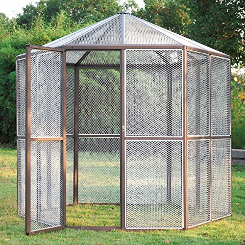 JAXPETY 93' Large Metal Bird Cage, Stainless...