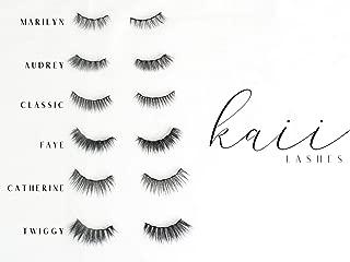Magnetic Eyelashes & Magnetic Liquid Eyeliner, Waterproof, Smudge proof, Reusable, Natural Looking, Kaii Lashes, False Lash Kit includes: Applicator, magnetic Eyeliner & Choice of Magnetic Lash Style