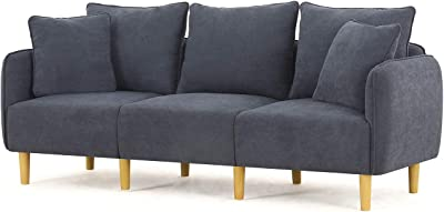 Pleasant Amazon Com Honbay Modern Convertible 3 Seat Sofa Chenille Machost Co Dining Chair Design Ideas Machostcouk