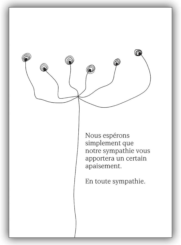 16 Trauerkarten (16er Set)  Französische Trauerkarte Trauerkarte Trauerkarte mit moderner Grafik  Nous espérons simplement... B00VRLR96O   Feinen Qualität  ee333f