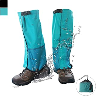 Frelaxy Leg Gaiters Ultra Strong 900D Waterproof Hiking Gaiters Snow Boot Gaiters Anti-Tear Oxford Fabric for Outdoor Walking Hunting Motorcycle for Men & Women