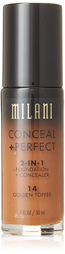 甘美な回路時間MILANI Conceal + Perfect 2-In-1 Foundation + Concealer - Golden Toffee (並行輸入品)