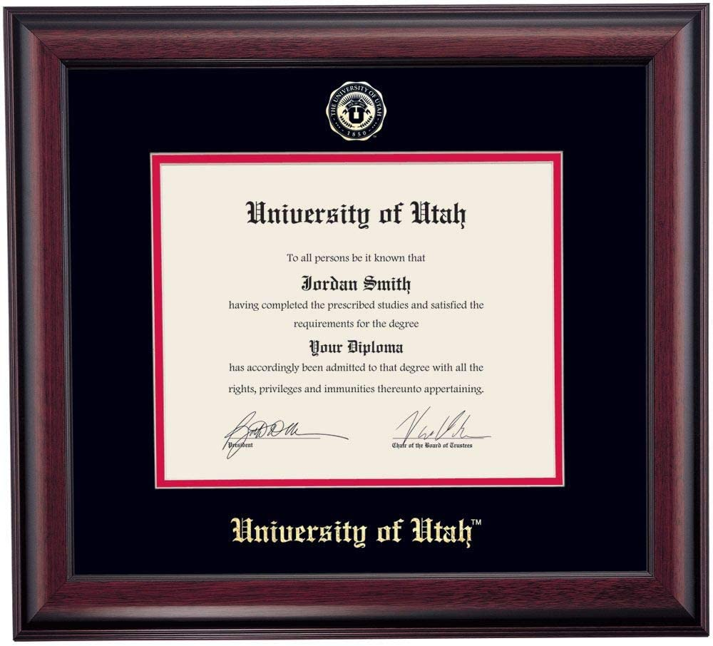 Long-awaited OCM DiplomaDisplay Traditional Frame University for Over item handling ☆ of Utah