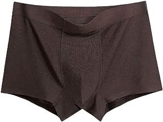 WUFAN Mens Modal Cotton Pure Colour Breathable Mid Waist Soft Boxer Brief