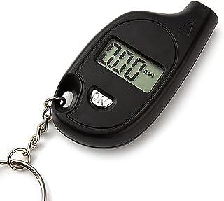 iTimo Digitaler Reifendruckprüfer für Auto und Motorrad, Mini Diagnosewerkzeug, Schlüsselanhänger, LCD Display