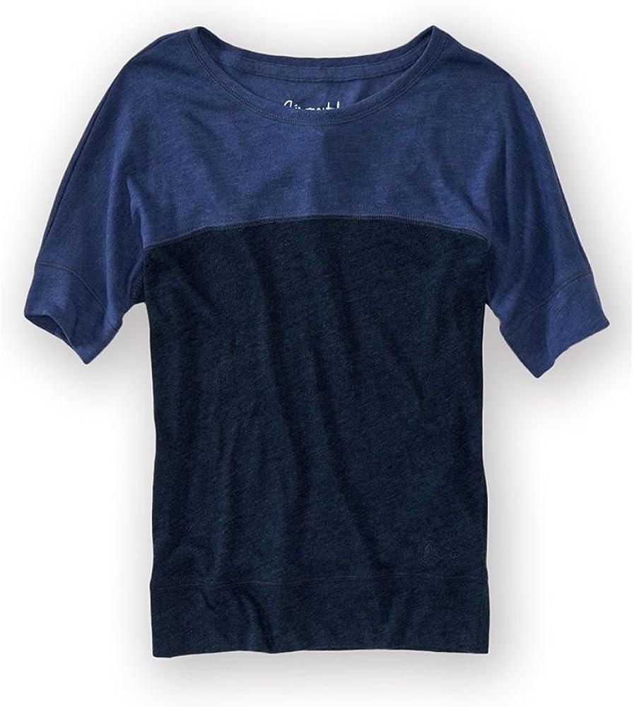AEROPOSTALE Womens Stripe Lightweight Ss Graphic T-Shirt