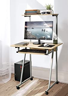 mobile computer desk with storage