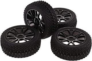 ZKS-KS Pack of 4 1/8 Tires Wheel Rims&Tyres 17mm Hex for 1:8 Off-road RC Car Buggy Truck