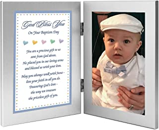 Baptism Gift for Baby Boy - Add Photo to Double Frame