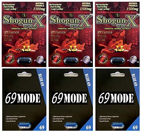 Shogun X 1500mg 3 Pills 69MODE Blue 3 Pills Male Enhancing Natural Performance Pill The New Most Effective Natural Amplifier for Performance, Energy, and Endurance