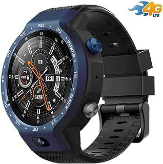 4Gスマートウォッチアンドロイド7.1サポートWIFI GPS RAM 1G ROM 16GブルートゥースHRタッチスクリーンスマートウォッチ付きハートウォッチ、GPS、カメラおよびスマートフォン通知iPhoneおよびAndroidとの互換性 (Color : Blue)