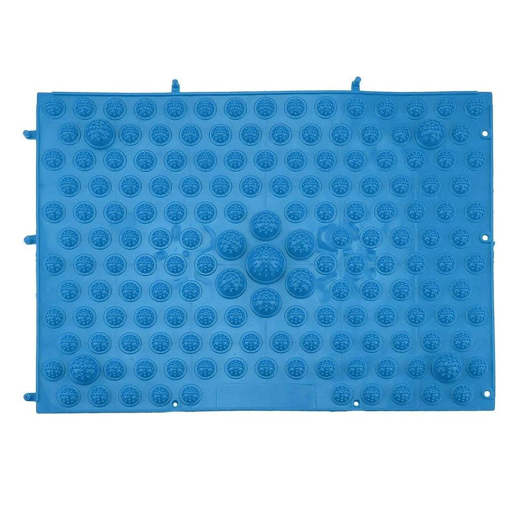 シダ責め外部指圧フットマットランニングマンゲーム同型フットリフレクソロジーウォーキングマッサージマット用痛み緩和ストレス緩和37x27.5cm - 青