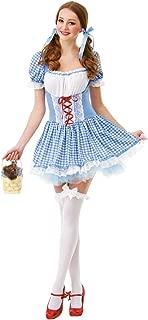 Kansas Belle Women's Halloween Costume Sexy Dorothy of Oz Blue Checkered Dress