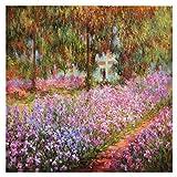 Legendarte Cuadro Lienzo, Impresión Digital - El Jardín Claude Monet, cm. 90x90 - Decoración Pared