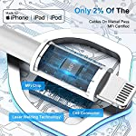 [Apple MFi Certified] iPhone Charger, DESOFICON 2Pack 6FT Lightning to USB Fast Charging Data Sync Cable & 2Pack USB Wall Quick Charge Travel Plug Compatible with iPhone 12/11/XS/XR/X 8 7/iPad/AirPods