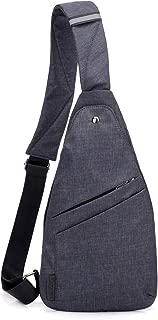 Strangefly Lightweight Sling Bag for Men Crossbody Pocket Bag Casual Shoulder Backpack Anti-Theft Side Chest Bag Daypack Black