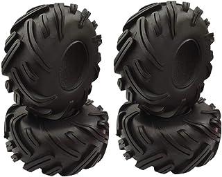 HONG YI-HAT For 1/10 RC Crawler Traxxas TRX4 Axial SCX10 90046 Wraith 4PCS 2.2 inch Rubber Tyre 2.2 Wheel Tires 140X56MM ス...