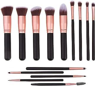 Set of 14 Makeup Brush, YOMYM Cosmetic Brushes Eyeliner Eye Shadow Blush Brushes, Premium Synthetic Powder Makeup Foundati...