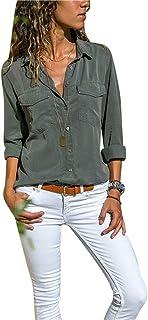 Amazon.es: camisa vaquera mujer - Gris