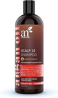 ArtNaturals شامپو ضد شوره آرگان - (16 Fl Oz / 473ml) - تار زغال سنگ طبیعی و آلی با روغن آرگان - درمان کمک می کند تا پوست سر ناخن، علائم پسوریازیس، اگزما - سولفات رایگان