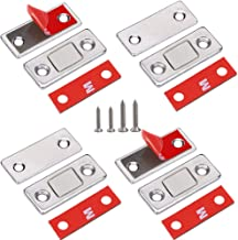Cabinet Door Magnets Jiayi 4 Pack Ultra Thin Magnetic Door Catch Stainless Steel Drawer Magnet Catch for Sliding Door Closure Kitchen Cabinet Closer Cupboard Closet Door Magnetic Latches Hardware