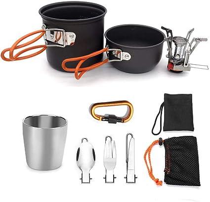 Luminiu Kit de Cocina Camping, para Acampada y Senderismo ...