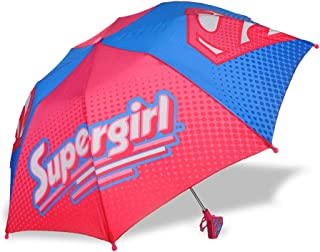 Manual Open and Close 32 inch by Adjore Pink Heart Stripe Umbrella for Girls